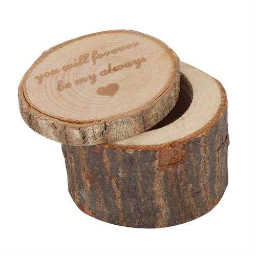 DIY Wooden Ring Box Bread Box Wedding Ring Box Container Handmade Unique Ring Jewelry Holder Storage Case Plastic