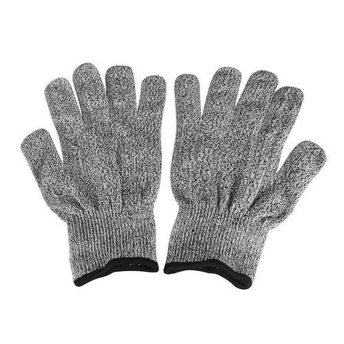 Home-1 Pair Anti-Cut Wear-Resistant Working Safety Gloves Level 5 Kitchen Gloves Black