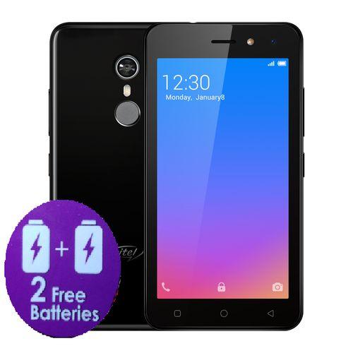 "A33 5.0"" Screen, Android 8.1, 16GB ROM + 1GB ROM, 2PCS 2200mAh Battery, Fingerprint, 5+2MP Camera - Black + FREE CASE"