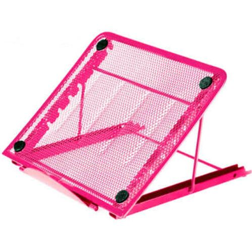 Muliawu Store Mesh Ventilated Adjustable Laptop Stand For Laptop / Notebook / IPad / Tablet-Hot Pink