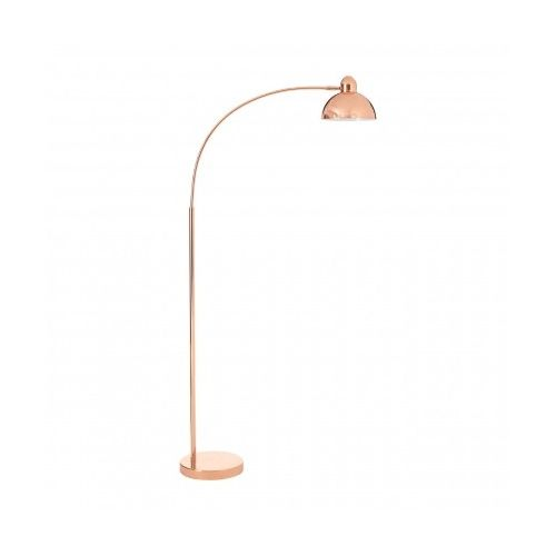 Foot Switch Copper Finish Metal Calle Floor Lamp