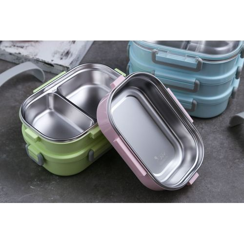 Sealed Lunch Box Multi-layer Stainless Steel Student Portable