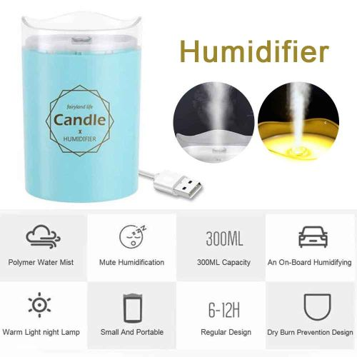 Mini USB Charge Humidifier Vehicle-Mounted Spray Hydrator-
