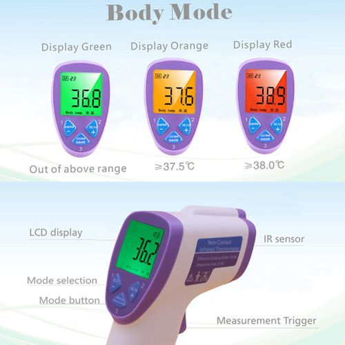 Non Contact Digital Infrared Surface Body Forehead Ear Thermometer Baby Adult