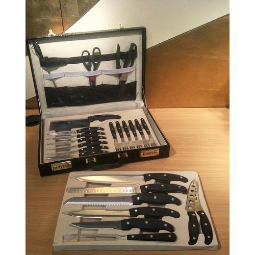 Knife Set With Sharpener 25 Pcs