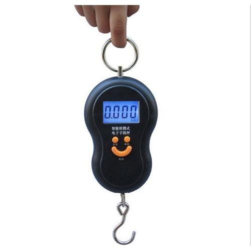 Mini 50Kg/10g Portable LCD Display Luggage Fishing Hook Electronic Weight Digital Scale Pocket Weighing Hanging Scale(Orange)