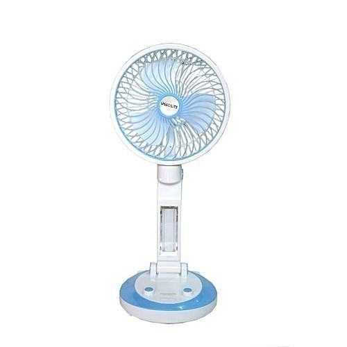 Rechargeable Fan With Lamp-