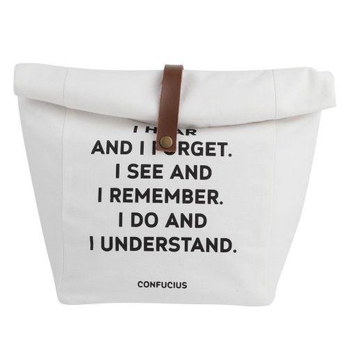 Reusable Lunch Bag , Picnic Bag , Simple Letter Small Fresh Multi-purposeInsulation Bag Cloth Bag For Shopping Or Working