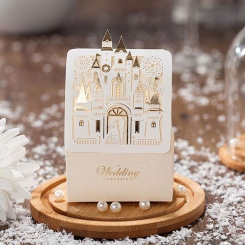 Luxe Creative Castle Wedding Gift Box Favours Paper Cardboard Candy Box Case
