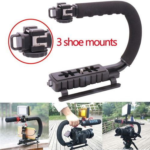 U Grip 3 Shoe Mounts Handheld Video Stabilizer For IPhone Canon Nikon Sony DSLR Camera