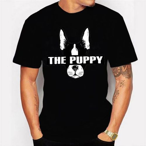 Men's Black T-shirt Animal Pattern - Black