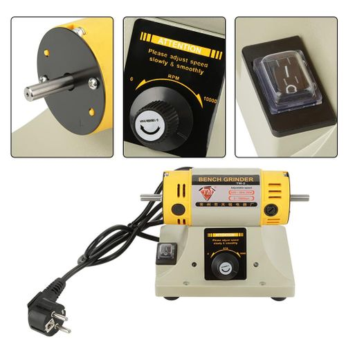 EU Plug 220V 350W Electric Grinder Polishing Machine For Jewelry Dental Lathe Motor