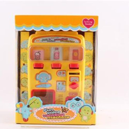 Plast Vending Machine Toy Battery Operated With Simulation Fun Voe*1246000 Yellow