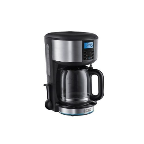 Classic 1.25Ltrs Stainless Steel Coffee Maker With Metallic Black Accents - By Russell Hobbs, UK