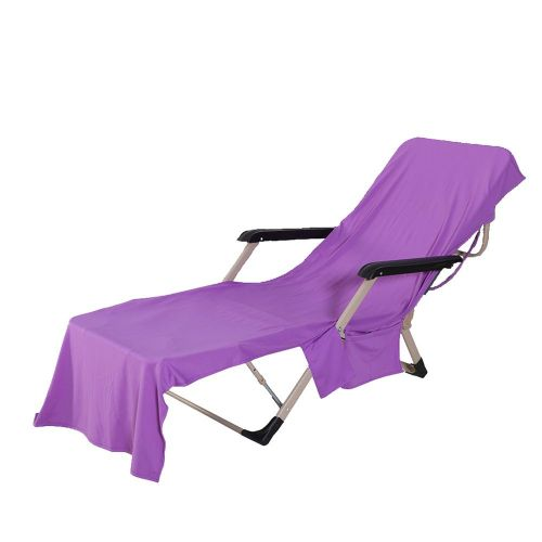 Lounger Beach Towel Fiber Cold Towel Quick Dry Beach Chair Towel Beach Towel Purple