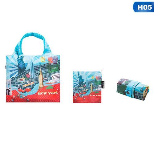 Eco Friendly Shopping Bags Waterproof Travel Custom Reusable Handbag Women Shoulder Cloth Pouch Foldable H05