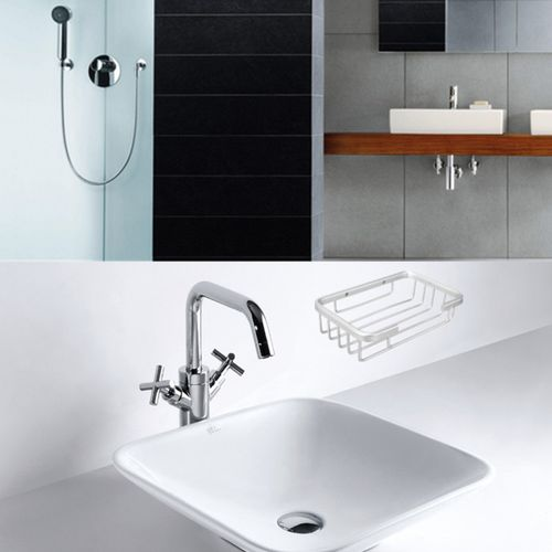 Space Aluminum Grid Frame Soap Box Soap Dishes Holder Basket Washroom Supplies