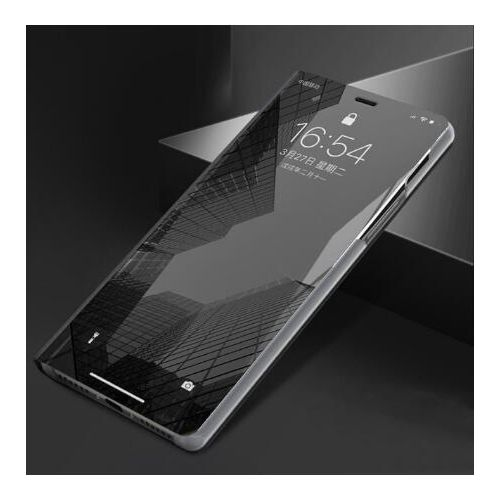 3D Flip Mirror Phone Case For IPhone 11 Pro XS Max XR X 6 6s 7 8 Plus 8Plus 6Plus 360 Clear View Back Cover Aiphone 6 S 10 Cases(#Black) YUA