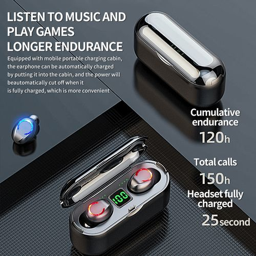 Wireless Earbuds Headset Bluetooth5.0 Earphones F9