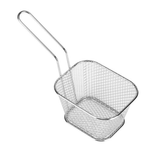Small Gold Metal Baskets For Serving Chips Fryer Cooking Tool