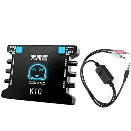 XOX K10 USB Sound Card With XOX MA2 Live Stream Cable Adaptor Combo