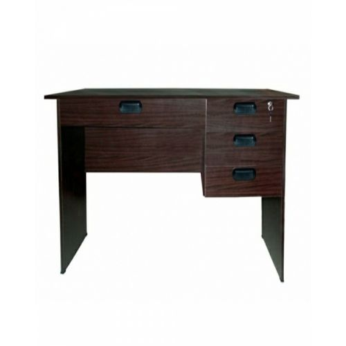 4ft Office Table With Drawers Brown (Lagos Only)