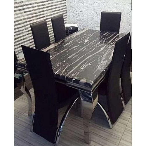 Marble Dinning With 6 Chairs (Lagos Delivery Only)