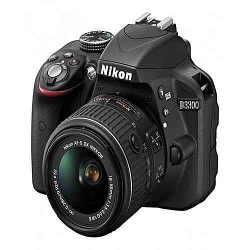 D3300 DSLR Camera + 18-55mm VR Lens - Black