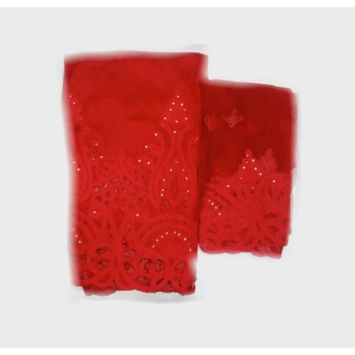 Indian George 2-in-1 Fabric - Red