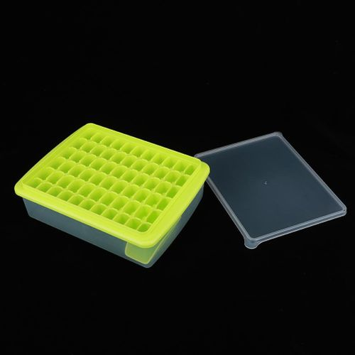 66 Grids Ice Tray Ice Cubes Mold Maker Making Tool With Lid Storage Box For Home Bar