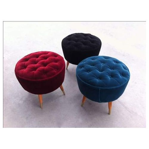 Cuisine 3sets Of Modern Tufted Stools-Free Lagos Delivery