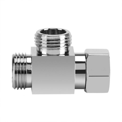 """3 Way Brass Chrome Diverter G1/2"""" T Shape Adapter Value For Shower Arm Mounted"""