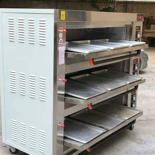 A Nine Tray And Three Deck Gas Oven