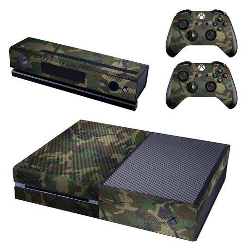 Xbox One Console Skin / Sticker + 2 X Controller Decals & Kinect Wrap - Army Camo XBOX ONE
