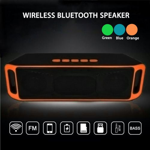 Wireless Bluetooth Speaker USB Flash FM TF Radio Stereo Super Bass MP3 Player
