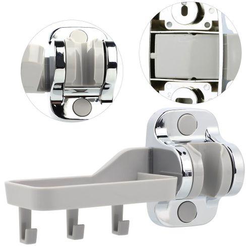 Adjustable Handheld Shower Head & Bidet Spray Holder Wall Mount Support Bracket With Towel Hook Soap Dish Bathroom Shelf Shower Rack