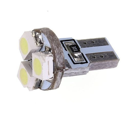 T5 Wedge 3-SMD 3528 Speedometer Gauge Cluster LED Light Bulb Pure (White)