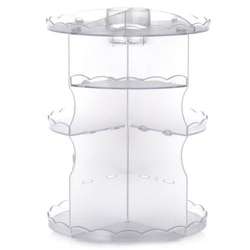 Round Tabletop Rotating Cosmetics Rack