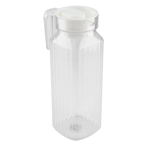 Acrylic Transparent Juice Bottle Striped Water Ice Cold Juice Jug With Lid For Bar Home