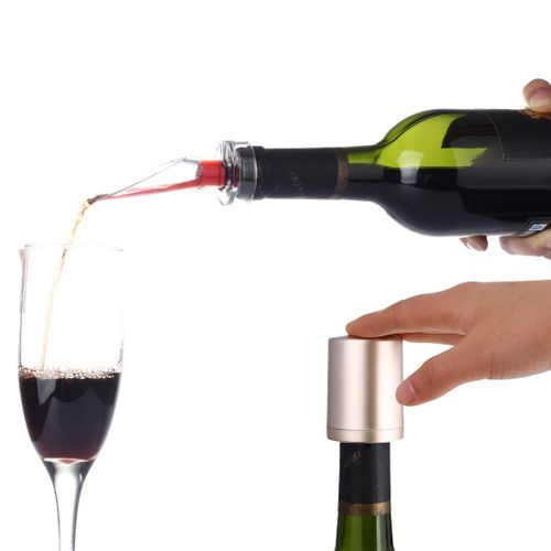 NiJia Portable Essential 1G Aerating Oxygenating Wine Pourer Red Wine Bottle Stopper Aerator Decanter + Wine Longevity Tool Oxygen Pumping Device Vacuum Stopple