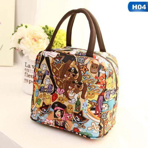 Eleganya Creative Fine Printing Fashion Waterproof Insulation Portable Lunch Bag