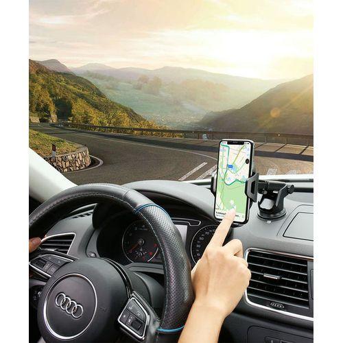 360 Degree Rotation Car Phone Holder - Black