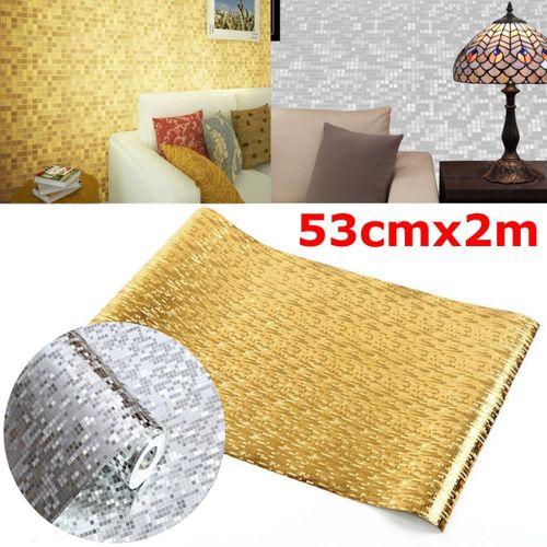 Gold Silver Foil Glitter Wallpaper Sheet Craft Paper Not Self-adhesive Home Decor
