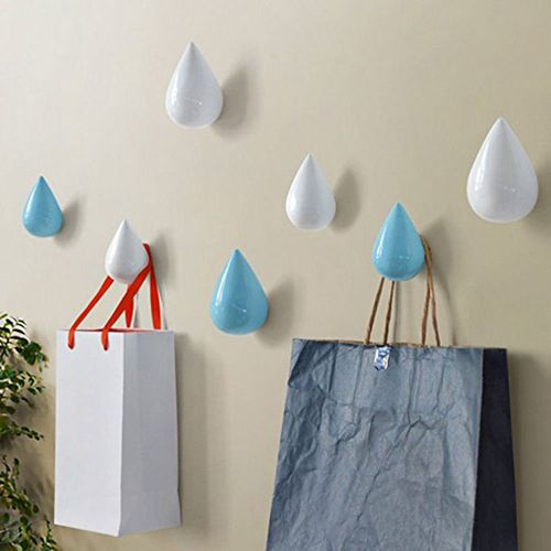 Honana BS-439 Creative Water Droplets Hook Solid Wooden Coat Cap Hooks For Hanging Storage