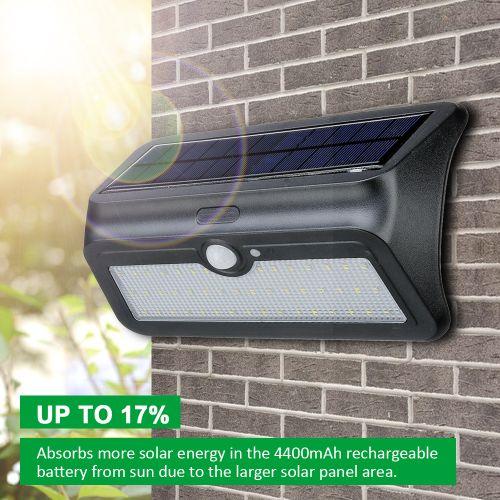 46 LED Solar Lights PIR Motion Sensor Security Wall Garden Lamp Lighting