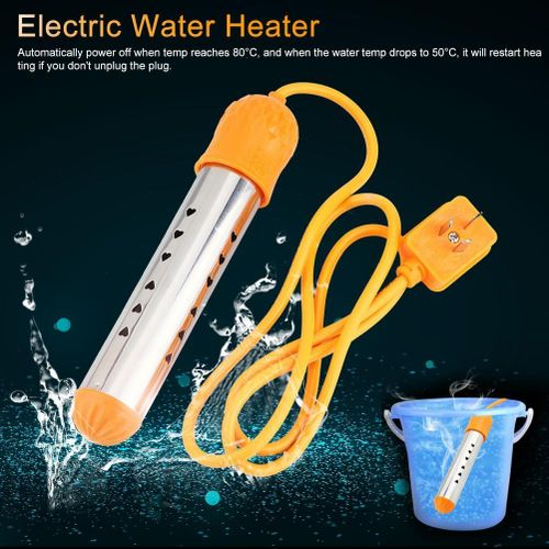 220V 2500W Stainless Steel Automatic Power Off Electric Immersion Heater Water Heating Element