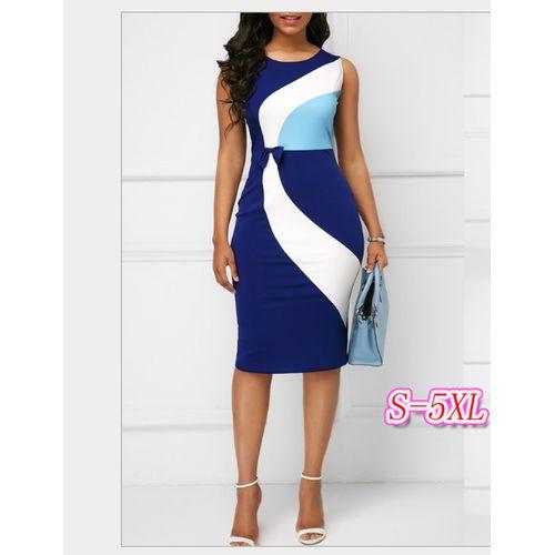 Sweet Sexy Women Ladies Midi Dress-Blue