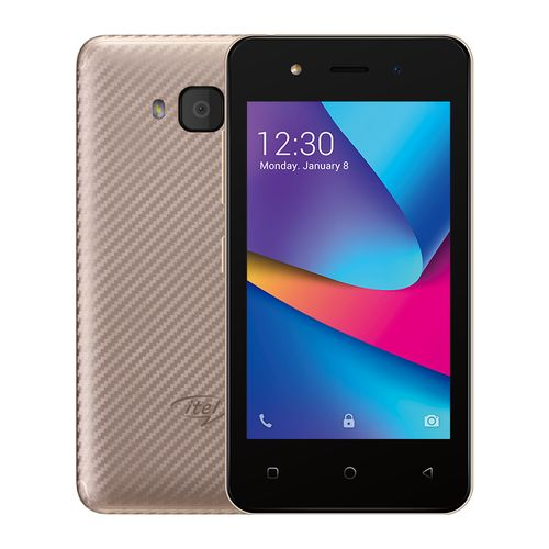 """A14 Android 8.1, 4"""" Screen, 8GB ROM Smartphone - Champagne Gold With FREE BACKCASE"""