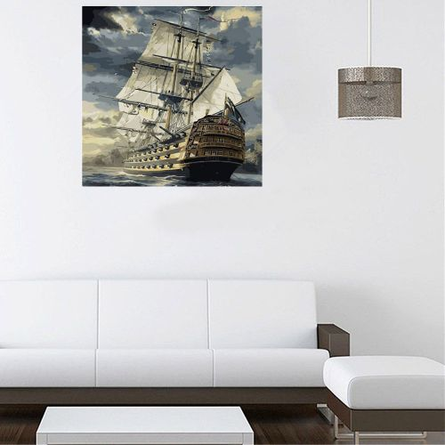 Fashion New DIY Digital Oil Painting By Number Kit Canvas Paint Home Wall Art Decoration