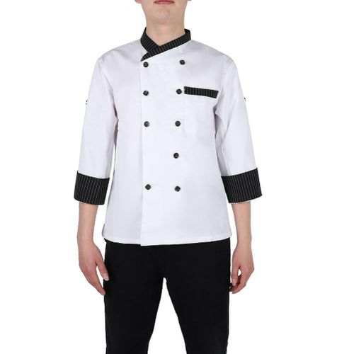 Korean Style Chef's Uniform Jacket Long Sleeve Chef Coat For Man Woman Work Wear Food Service Uniform Coat